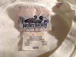 Northern Reflections White Flowery Pattern Long Sleeve Shirt Size Medium image 5