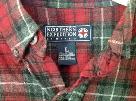 Northern Expedition Limited Size Large Plaid Long Sleeve Button Up Flannel Shirt image 3