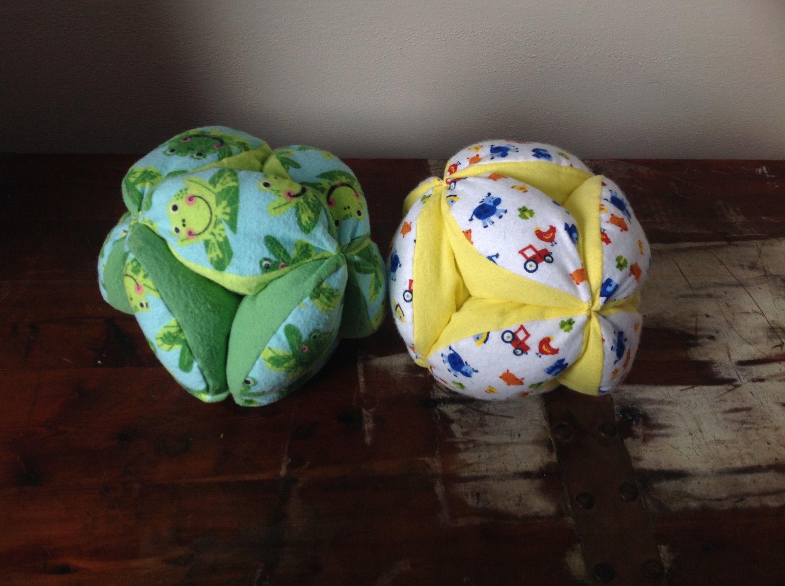 Plush Handmade Baby Ball Custom Colors Made in USA 12 Inches Diameter