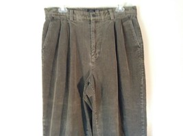 Pleated Front Relaxed Fit Straighter Leg GAP Gray Corduroy Pants Size 34 by 30