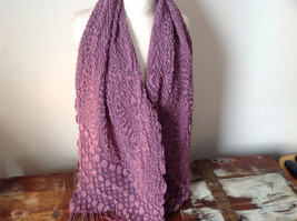 Pink Boho Style Scarf with Dots