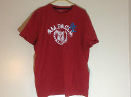 Red American Eagle Short Sleeve T-shirt with Print Design on Front Size XXL