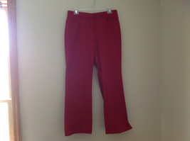Red 3 Pocket Dress Pant by New York and Co Button Clasp Zipper Closure Size 10
