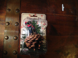 Real Pine Cone Choice of YOUR DOG breed w Scarf Pet Pine Cone Christmas Ornament image 1