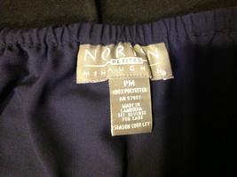 Norton Petite Blue Three Quarter Length Skirt Stretch Waist Size Petite Medium image 3