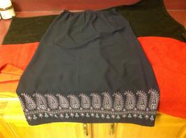 Norton Petite Blue Three Quarter Length Skirt Stretch Waist Size Petite Medium image 5