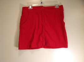 Red Short Skirt H and M Size 8 Front Button Zipper Closure Excellent Condition