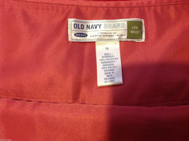 Old Navy Womens Low Rise Waist Pink Skirt with Embroidered Edge Pattern size 16 image 9
