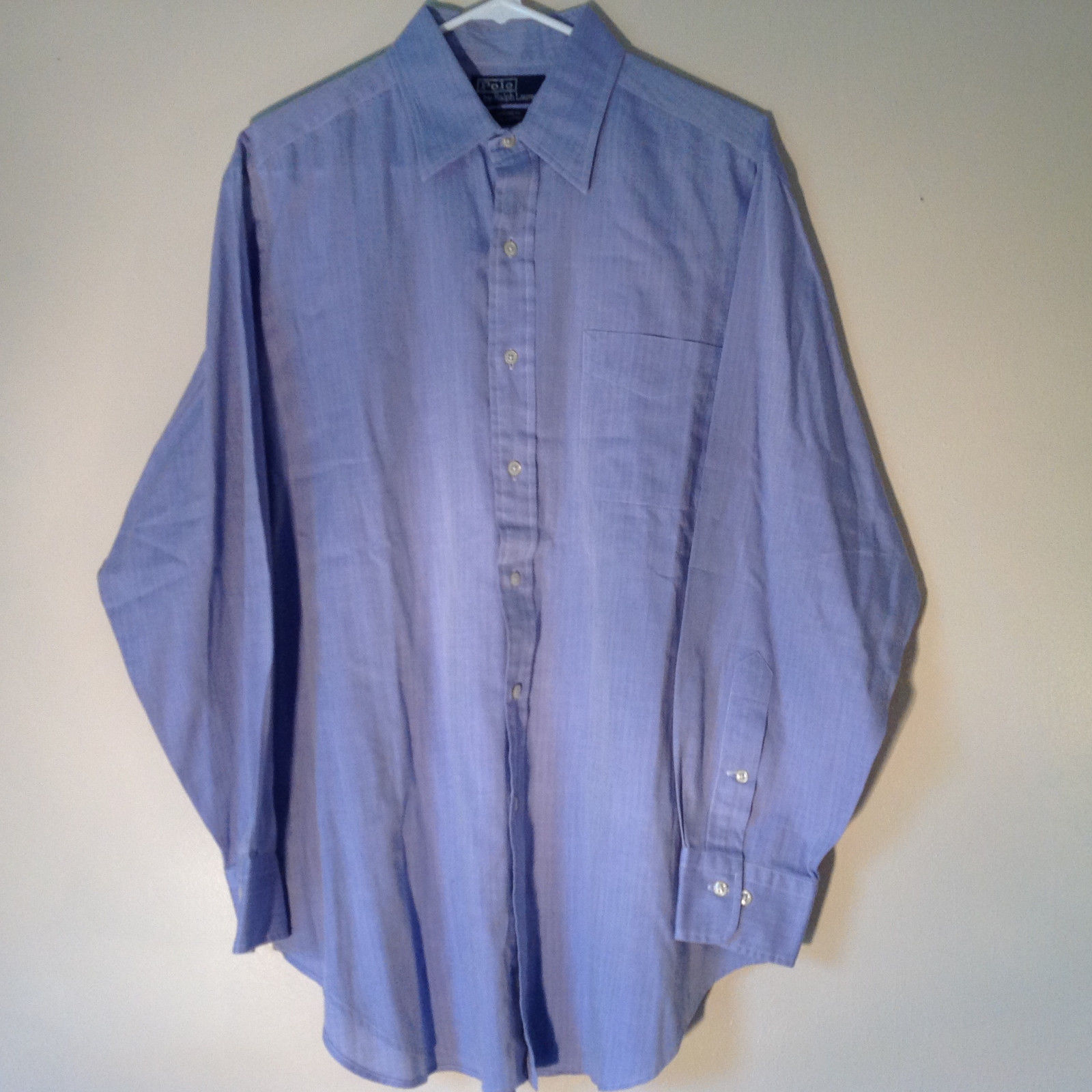 Polo Ralph Lauren Long Sleeve Button Down Light Purple Shirt Size 32 to 33