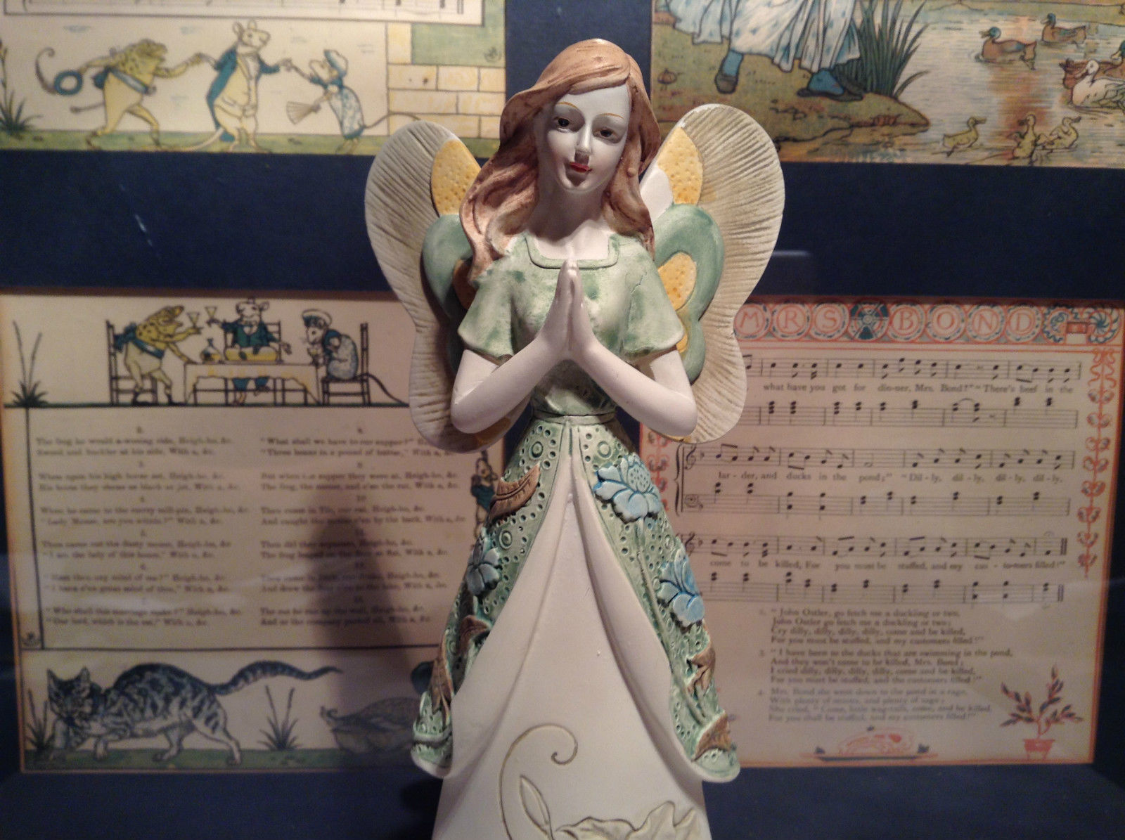 Praying Angel Tall Mira Flora Handcrafted Resin Angel Figurine