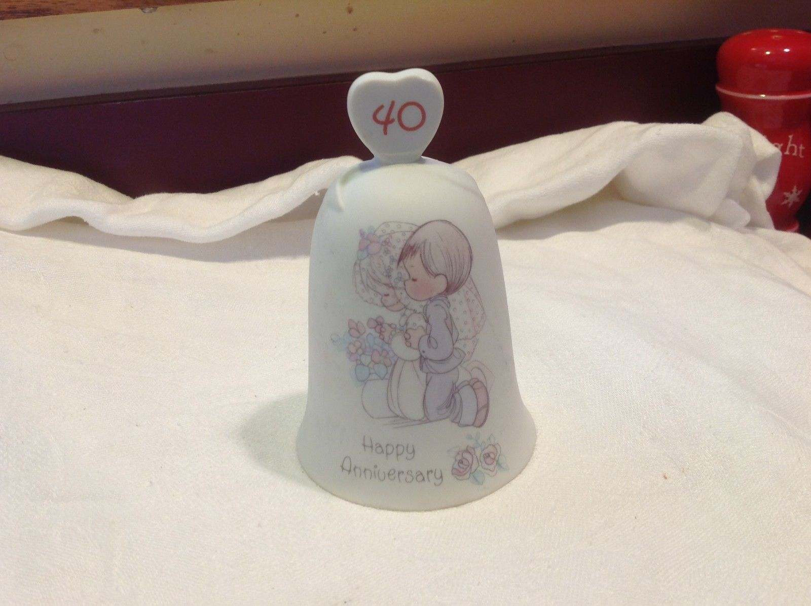 Precious Moments 40th anniversary ceramic collector's bell