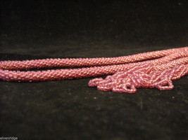 Long Beaded Cord with beaded tassel ends image 5