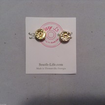 Lizzy J bullet stud gold traditional shiny  finish  earrings USA made image 4