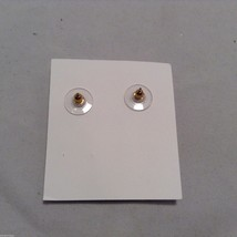 Lizzy J bullet stud gold traditional shiny  finish  earrings USA made image 5