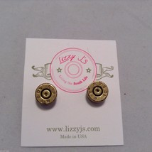 Lizzy J bullet stud gold vintage matte  finish  earrings USA made image 2