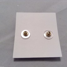Lizzy J bullet stud gold vintage matte  finish  earrings USA made image 4
