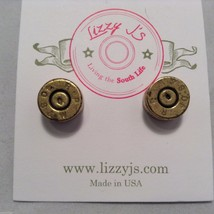 Lizzy J bullet stud gold vintage matte  finish  earrings USA made image 3