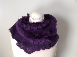 Pretty Frilly Furry Purple Infinity Scarf See Measurements Below - £22.85 GBP
