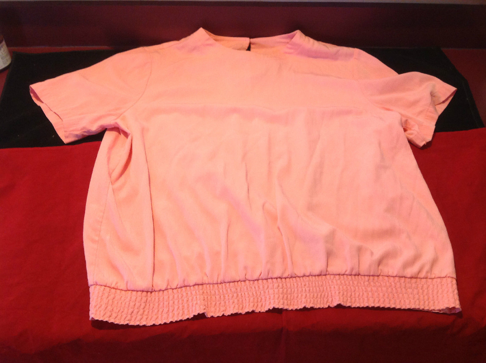 Pretty Light Pink Salmon Alfred Dunner Ladies Blouse Size 44/24W