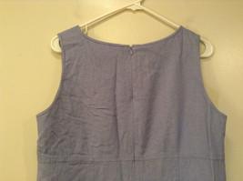 Long Blue Sleeveless Dress Amanda Smith Size 14 Fully Lined Embroidery on Front image 6