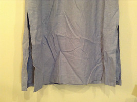 Long Blue Sleeveless Dress Amanda Smith Size 14 Fully Lined Embroidery on Front image 5