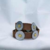 Lizzy J leather wrap 16 inch brown vintage look w spent shotgun cap USA made image 2