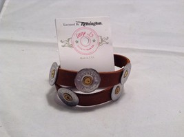Lizzy J leather wrap 16 inch brown vintage look w spent shotgun cap USA made image 3