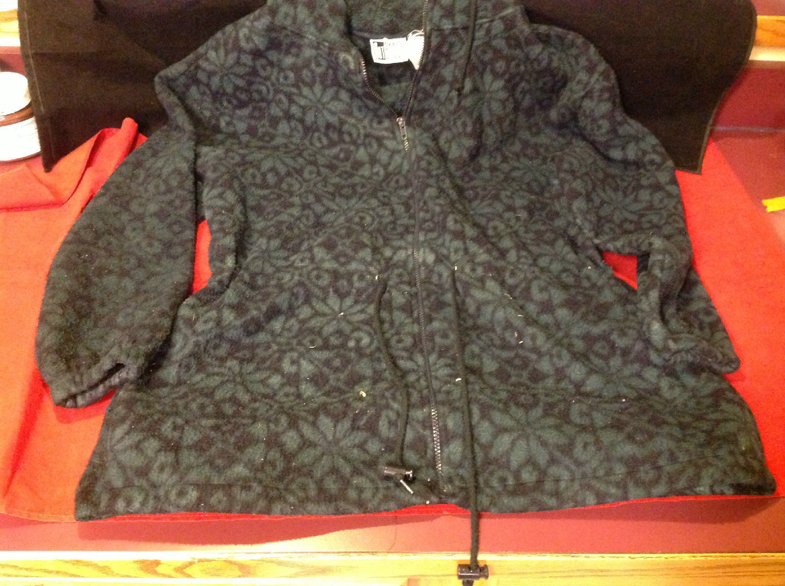 Pretty Outbrook Ladies Sweatercoat Green Black Color Size Medium