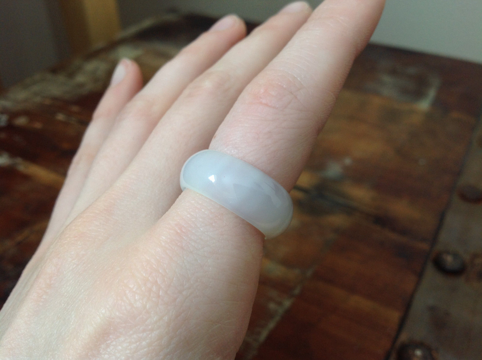 Pretty Quartz Natural Stone Ring Sizes 6.75, 7, 7.5, 9