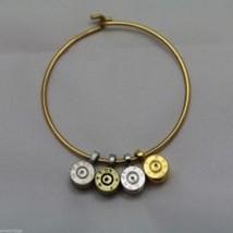 Lizzy J bullet charm bracelet, shiny gold silver vintage gold and silver image 2