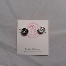 Lizzy J bullet stud silver traditional finish  earrings USA made image 2