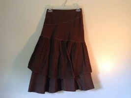 Promod Brown Skirt 100 Percent Cotton Side Zipper Side Measurements Below