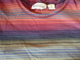 Long Sleeve Aeropostale Striped Shirt 100 Percent Cotton Size Small Multicolored image 6