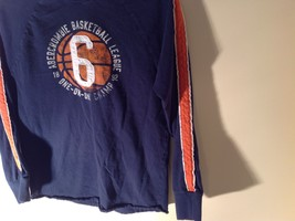 Long Sleeve Dark Blue Basketball Shirt Logo  Abercrombie image 3