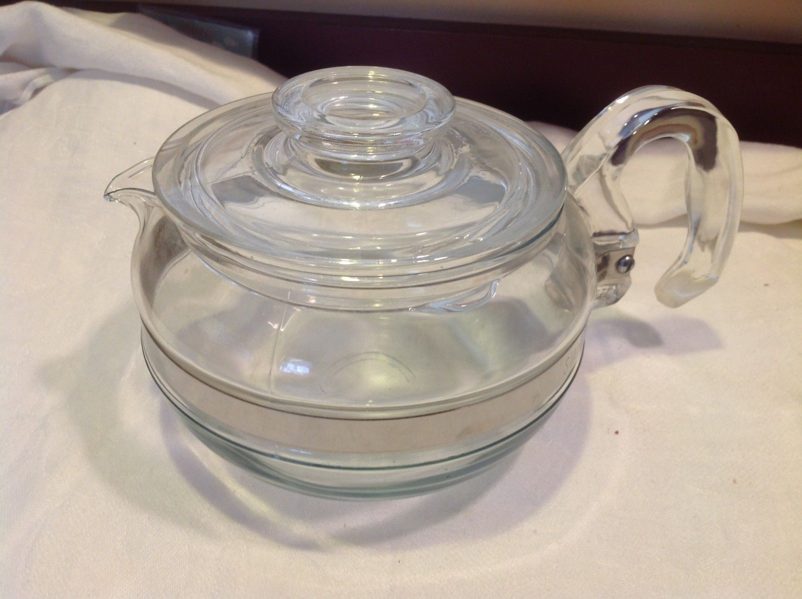 Pyrex vintage small clear glass coffee or teapot for display