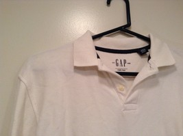 Long Sleeve Collared White Polo Shirt GAP 100 Percent Cotton Size XXL 14 to 16 image 2