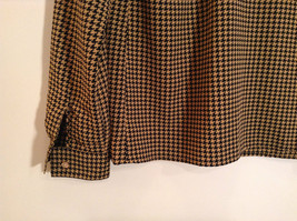 Long Sleeve Brown Black Pattern Size 8 Button Up Front Shirt Liz Claiborne image 7