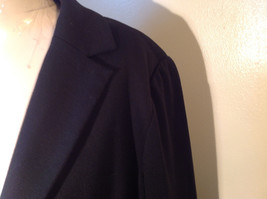Long Sleeve Pure Black Coldwater Creek Shaped Blazer Size P14 image 2