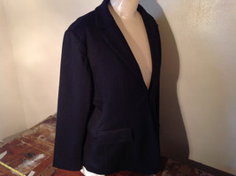 Long Sleeve Pure Black Coldwater Creek Shaped Blazer Size P14 image 5