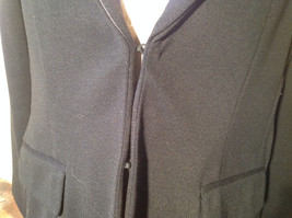 Long Sleeve Pure Black Coldwater Creek Shaped Blazer Size P14 image 3