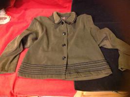 R&K R K Originals Womens Olive Green Blazer Jacket size 14P Petite