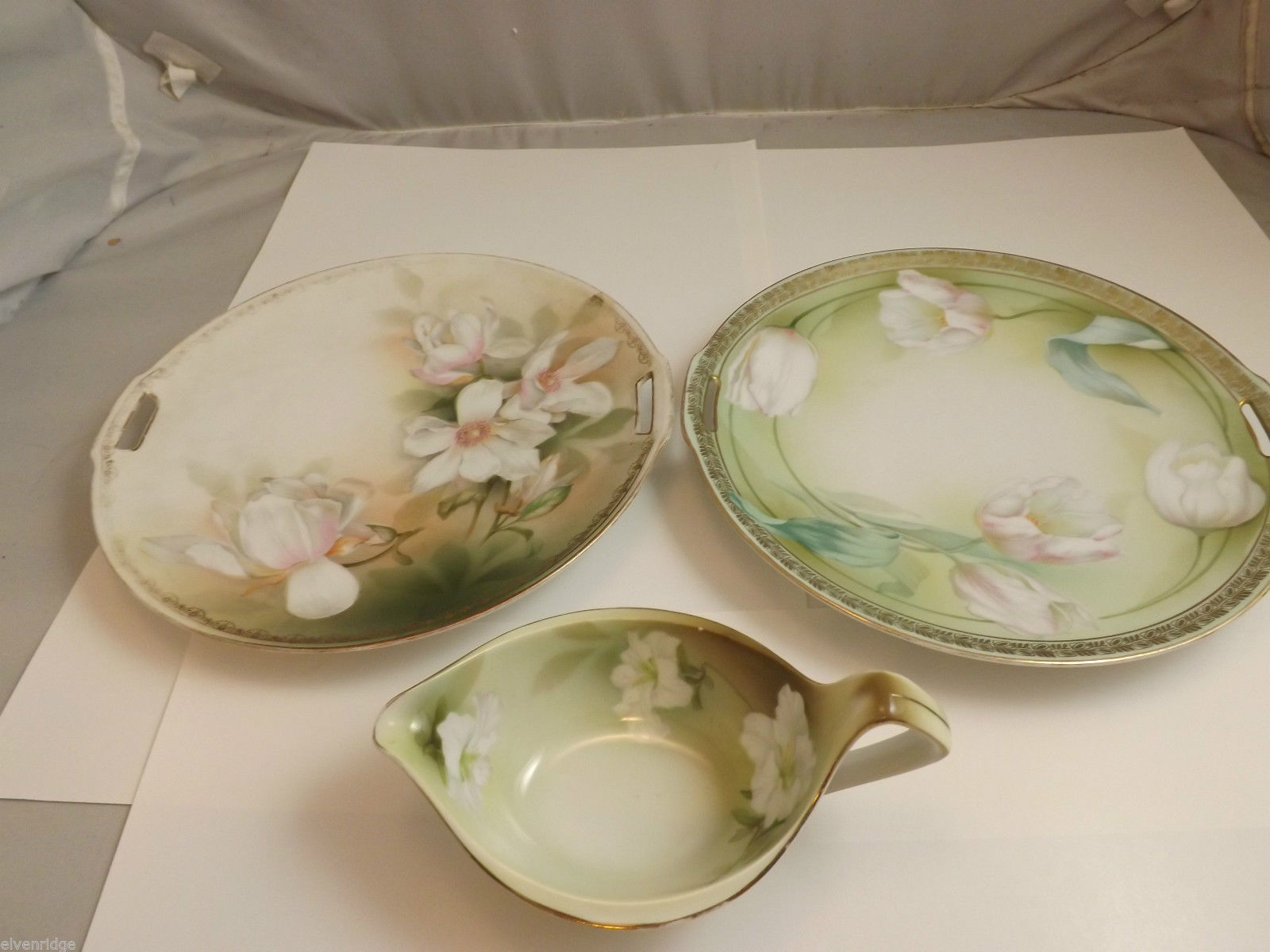 R S Germany 2 Plates and Gravy Bowl/Server