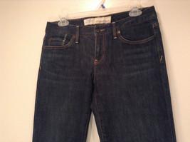 Ann Taylor LOFT Original Dark Blue Jeans Boot Cut Low Rise Size 2 image 2