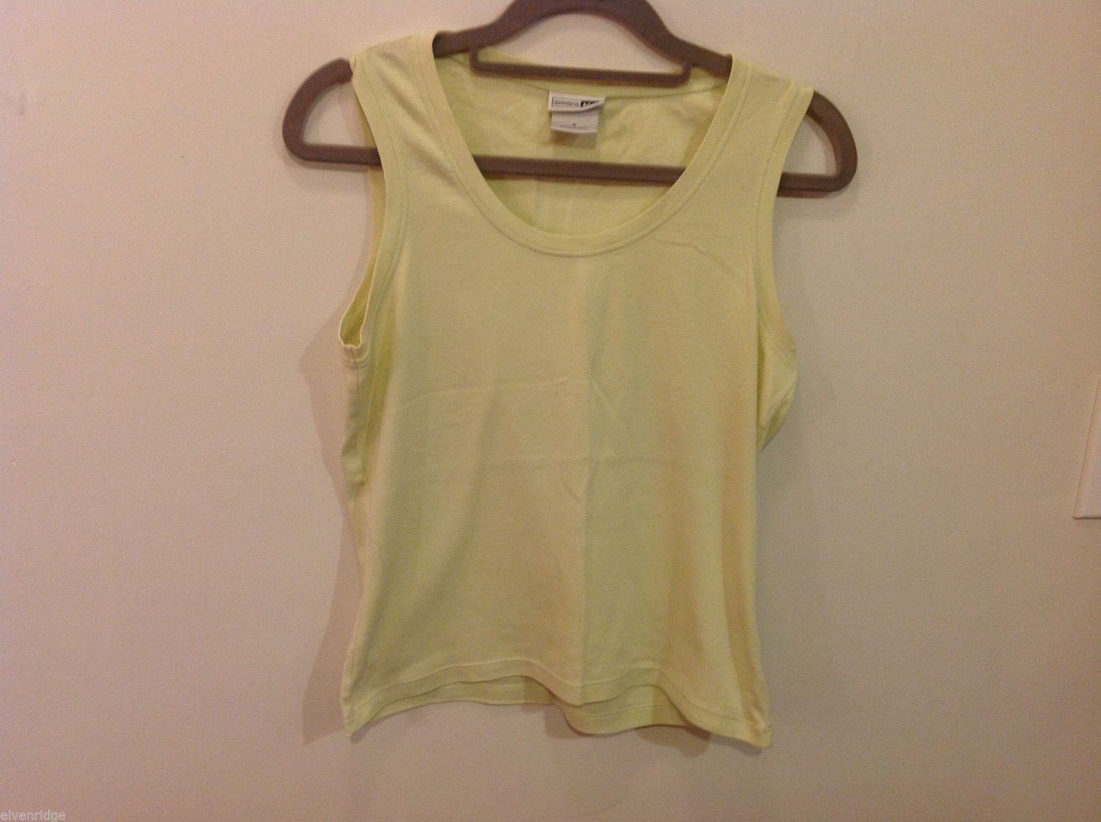 REI Womans Sleeveless Light Green Stretchable Cotton Tank Top Blouse, Size S