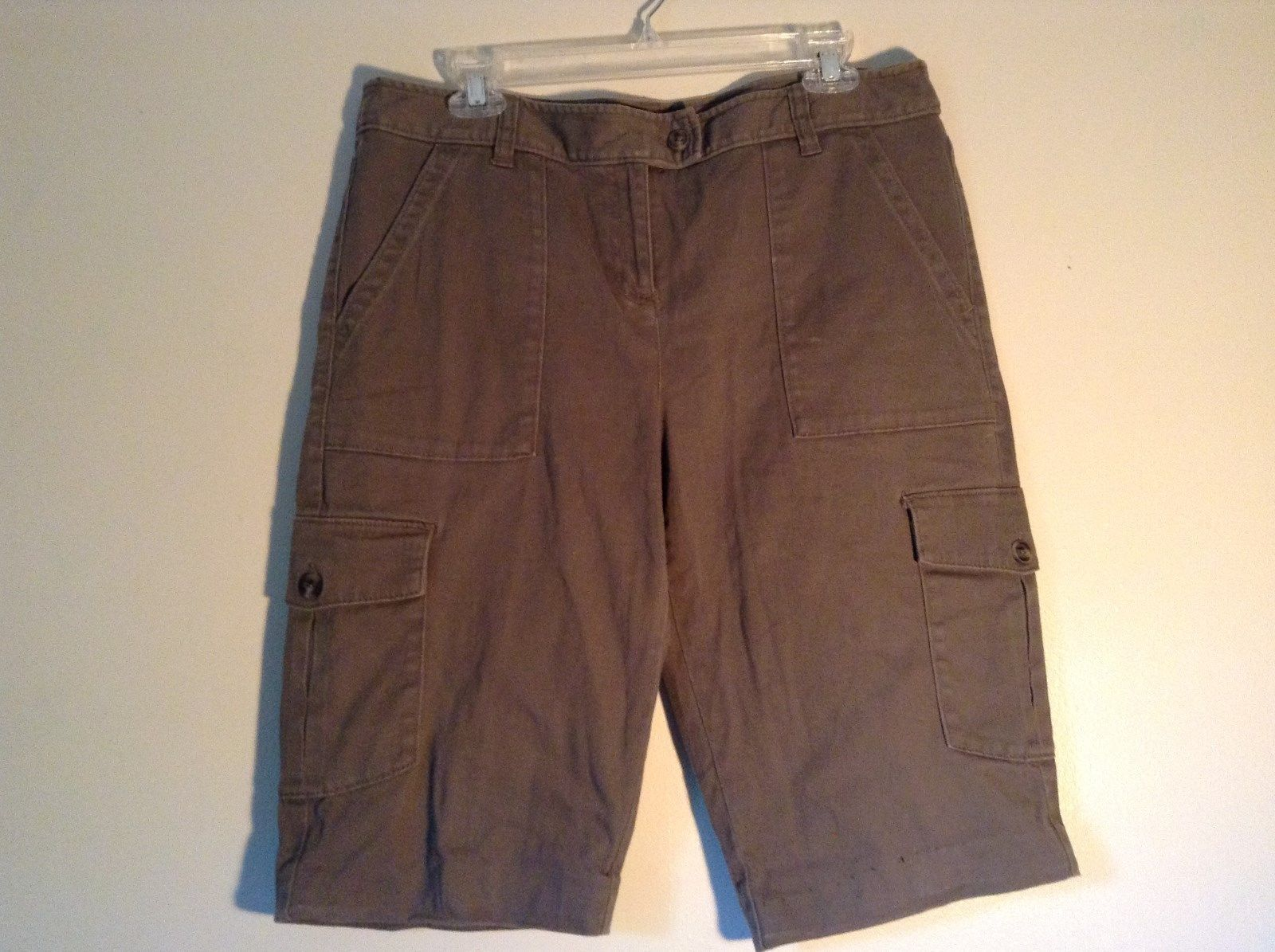 Rafaella Petite Brown Capris 6 Pockets Size 12P