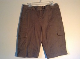 Rafaella Petite Brown Capris 6 Pockets Size 12P image 1