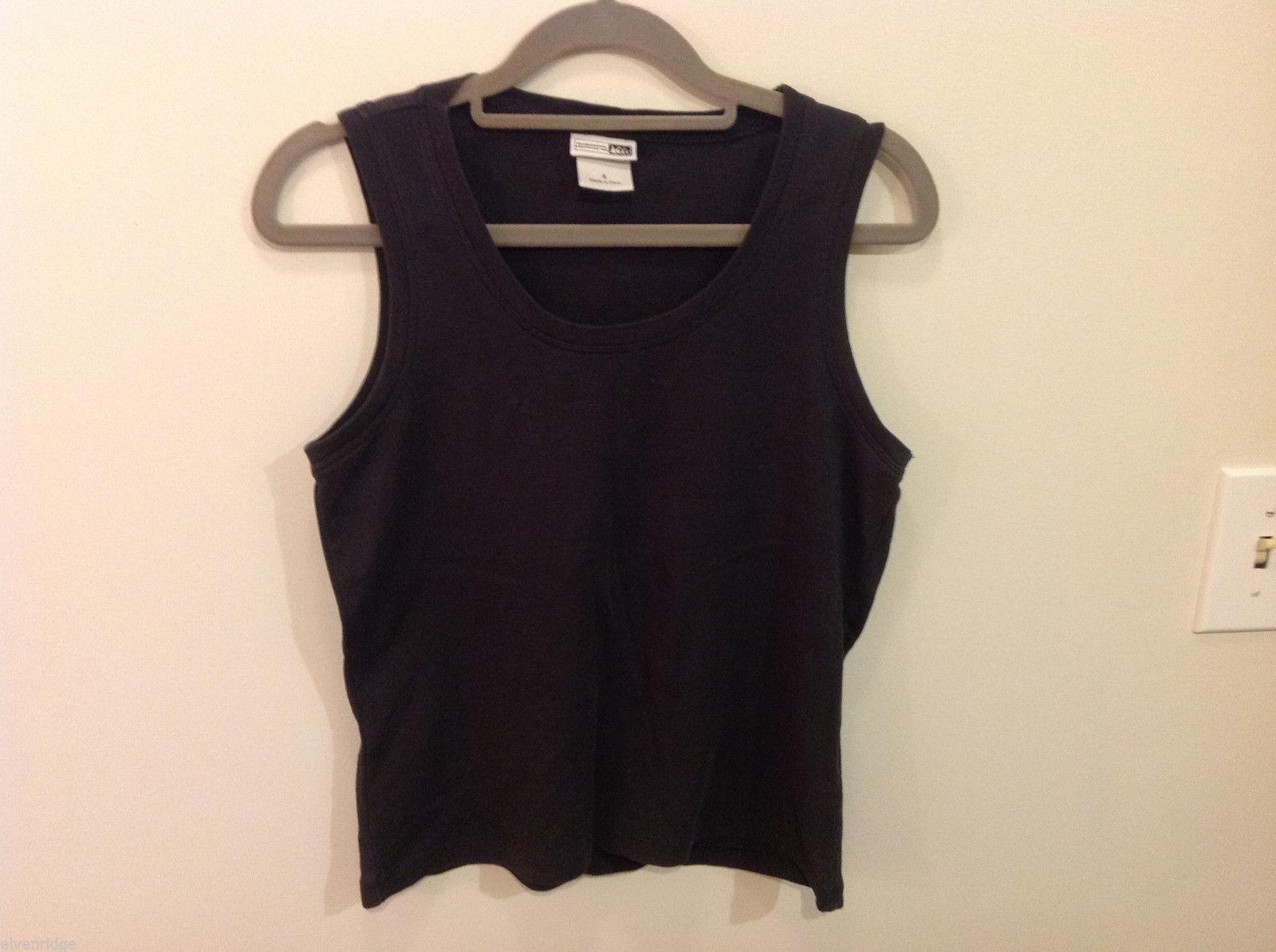 REI Womens Sleeveless Black Stretchable Cotton Tank Top Blouse, Size S