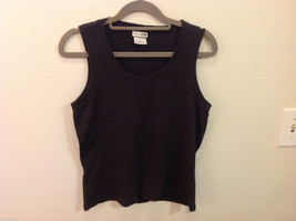 REI Womens Sleeveless Black Stretchable Cotton Tank Top Blouse, Size S image 1