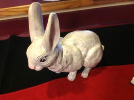 Rabbit white 16 inches Ceramic statue image 1