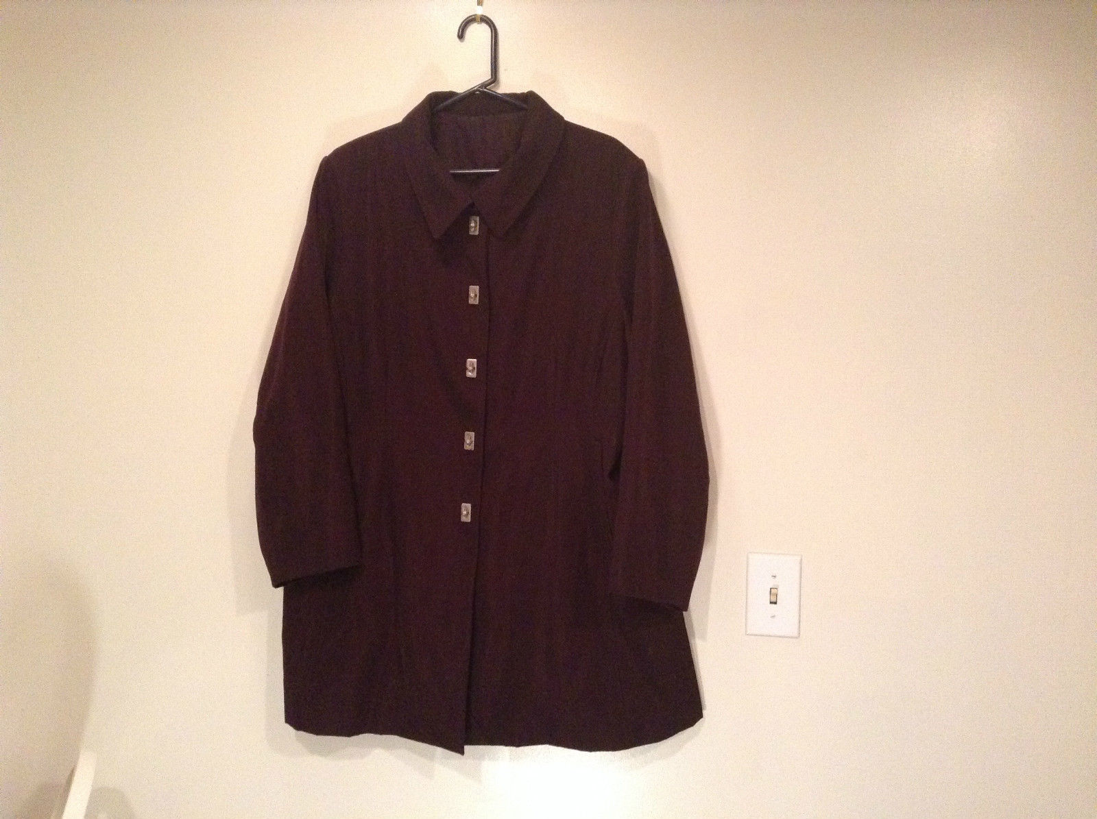 Rain Shedder Dark Burgundy Brown Fully Lined Raincoat Size 20W